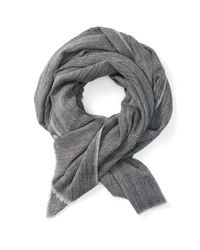 Frank + Oak - Gray Herringbone Wool Scarf In Grey for Men - Lyst