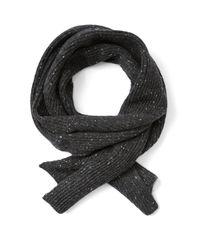 Frank + Oak - Donegal Tweed Knit Scarf In Black - Lyst
