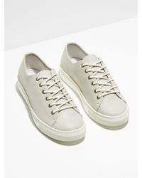 Frank And Oak - The Idyllwild Cracked-leather Low Sneaker In Off White for Men - Lyst