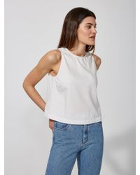 Frank And Oak - Cotton-chambray Midi Tank In Snow White - Lyst