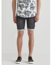 Frank And Oak - Blue French Terry Denim Shorts In Washed Black Denim for Men - Lyst