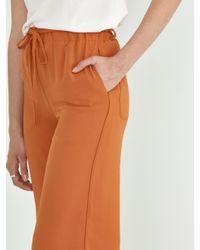 Frank And Oak Orange Wide Leg Pant