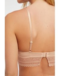 Free People Natural Get Off My Cloud Underwire Bra By Intimately
