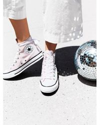 Free People - Pink Velvet High Top Sneakers - Lyst
