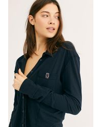 Free People - Black We The Free Australis Button-up Top - Lyst