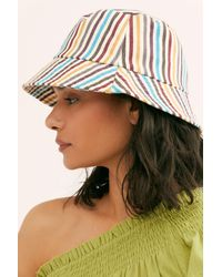 Free People Multicolor Stripe Throwback Bucket Hat
