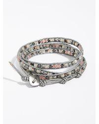 Free People - Gray Shimmer Wrap Bracelet - Lyst