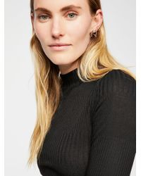 Free People Black Auto Pilot Cropped Long Sleeve By Intimately