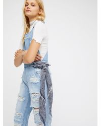 Free People - Blue Sophie Frayed Bandana - Lyst