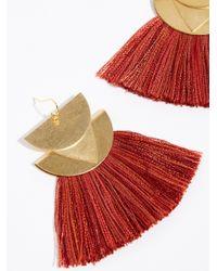 Free People - Red Diamond Canyon Tassel Earrings - Lyst