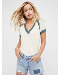 Free People - Blue Levi's 501 Cutoffs - Lyst