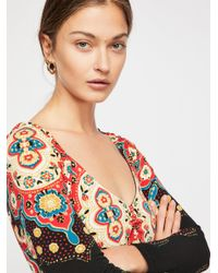 Free People - Multicolor Gabby Mini Dress - Lyst