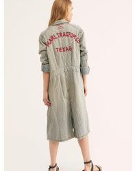 Free People Multicolor Tractor Co. Work Jacket
