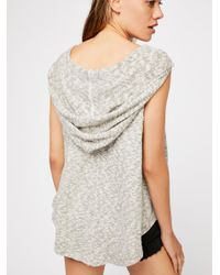 Free People Gray We The Free West Coast Hacci Top
