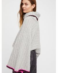 Free People Gray Winter Park Sweater