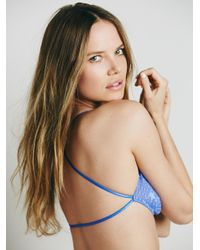 Free People - Blue Essential Lace Racerback By Intimately - Lyst