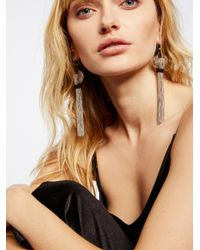 Free People - Black Saint Rosa Fringe Earrings - Lyst