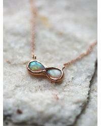 Free People - Multicolor 14k Infinite Possibilities Opal Necklace - Lyst