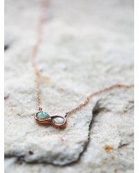 Free People | Multicolor 14k Infinite Possibilities Opal Necklace | Lyst