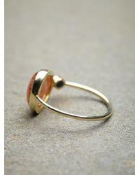 Free People - Metallic 14k Sunstone Slice Ring - Lyst