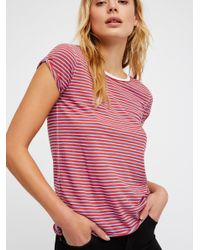 Free People Red Clothes Tops & Tees We The Free Stripe Clare Tee