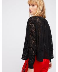 Free People - Black Not Cold In This Top - Lyst