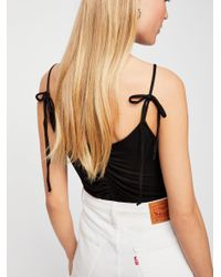 Free People - Black Slinking Around Cami - Lyst