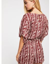 Free People Red Put A Ring On It Romper