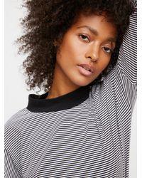 Free People Black Clothes Tops & Tees Katie Striped Tee