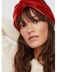 Free People - Brown With The Band Velvet Turban - Lyst