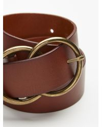 Free People - Gray Eternity Leather Belt - Lyst
