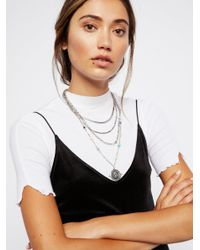 Free People - Metallic Maritzah Medallion Necklace - Lyst