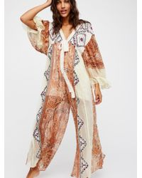 Free People - White Marigold Maxi Jumpsuit - Lyst