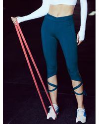Free People - Blue Turnout Leggings - Lyst