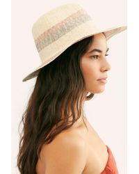 Free People Multicolor Sand Bar Stripe Straw Hat