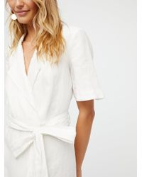 Free People - White Klara Wrap Midi Dress - Lyst