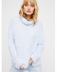 Free People - Blue New Turtleneck - Lyst