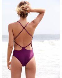 Free People Purple Farrah One Piece Swimsuit