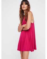Free People - Pink Mock Me Mini Dress - Lyst
