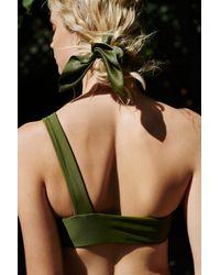 Free People Green Leila Bikini Top By Beach Riot