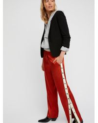 Free People Red Popper Track Pant