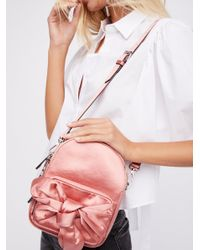 Free People Pink All Wrapped Up Backpack