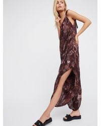 f36865357ad Lyst - Free People El Porto Romper in Brown