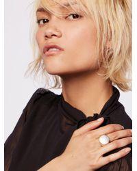 Free People - Metallic Clean Signet Ring - Lyst