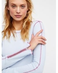 Free People Blue Clothes Tops & Tees Thermals & Henleys Zip It Cuff Thermal