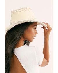 Free People White Joanna Cotton Sun Hat By Brixton