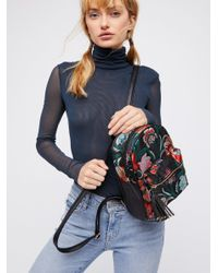 Free People - Black Cecile Brocade Backpack - Lyst