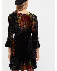 Free People - Black Time On Your Side Mini Dress - Lyst