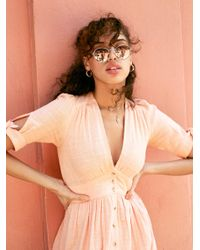 Free People Multicolor Far Out Round Sunglasses