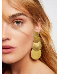 Free People | Multicolor 4 Moons Disc Earrings | Lyst